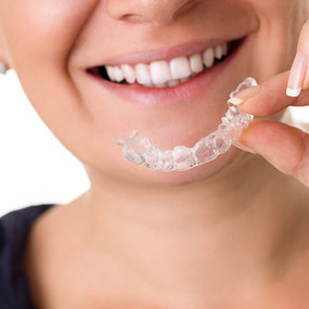 Patient with Invisalign Braces