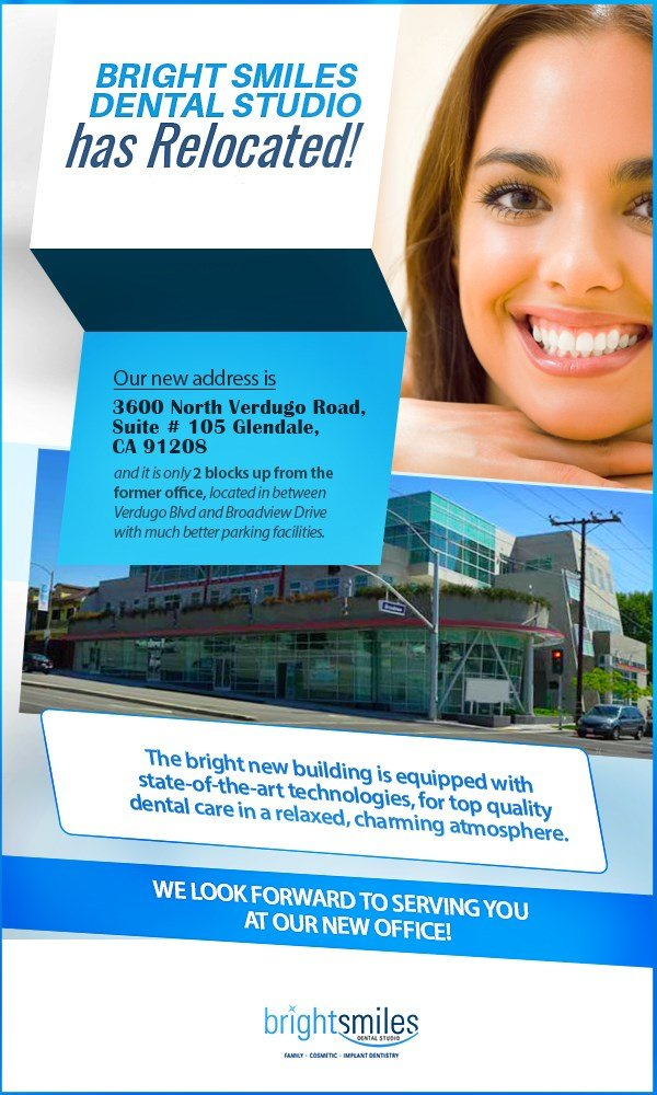 Dr. Carlos Garcia, Bright Smile Dental Studio, Mobile banner for Location Change Info