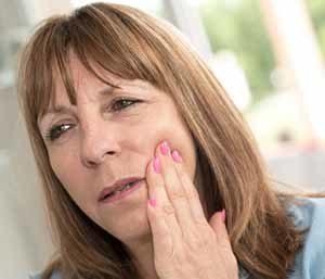 Patient suffering from gum disease